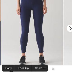 Lululemon sleet tight worn once navy blue size 4